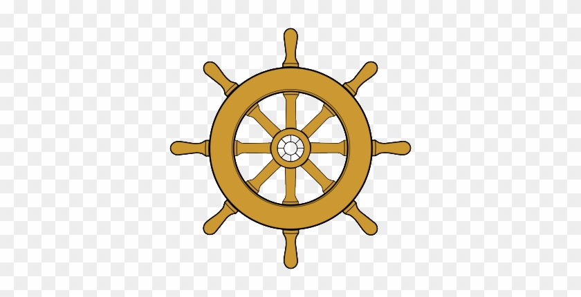 Logo, Company Logo By Captain Ron In Key West Fl - Pirate Ship Wheel Clipart #503401