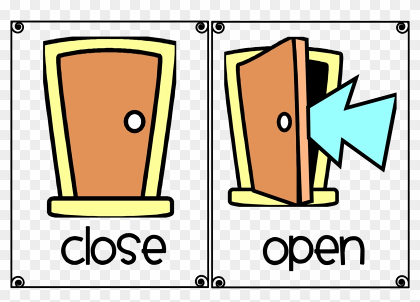 Decorating Open The Book Pictures - Open And Close Flash Card #503486