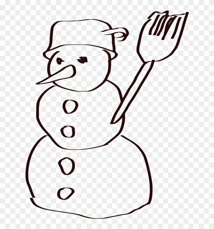 Snowman Sketch Clip Art - Snow Man Sketch #503528