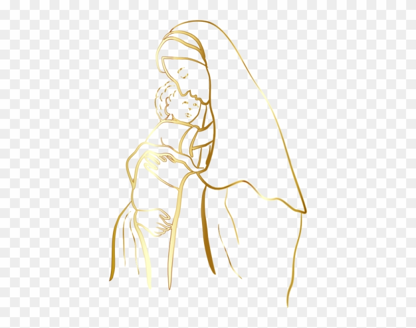 Mary And Baby Jesus Royalty Free Stock Images - Image: 17426889   Jesus  drawings, Mary and jesus, Illustration