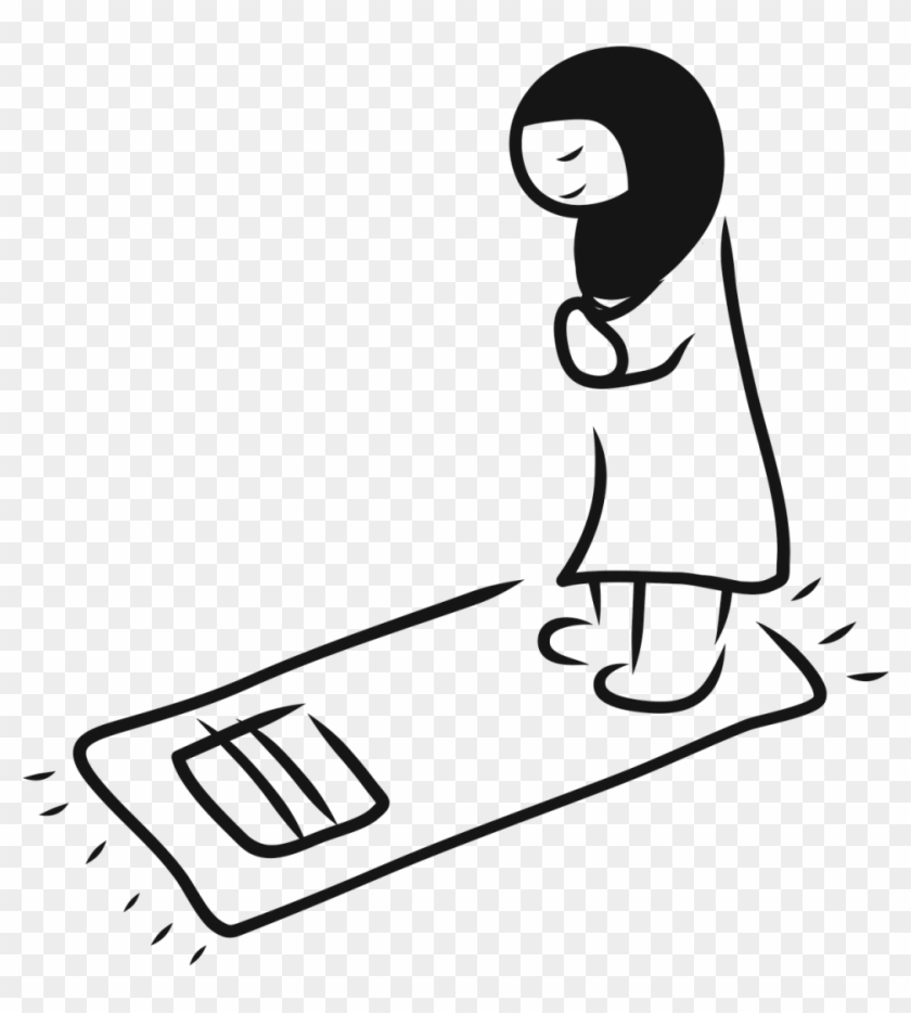 Are The Prayer Positions Different For Women Than Men - Muslim Praying Drawing #504127
