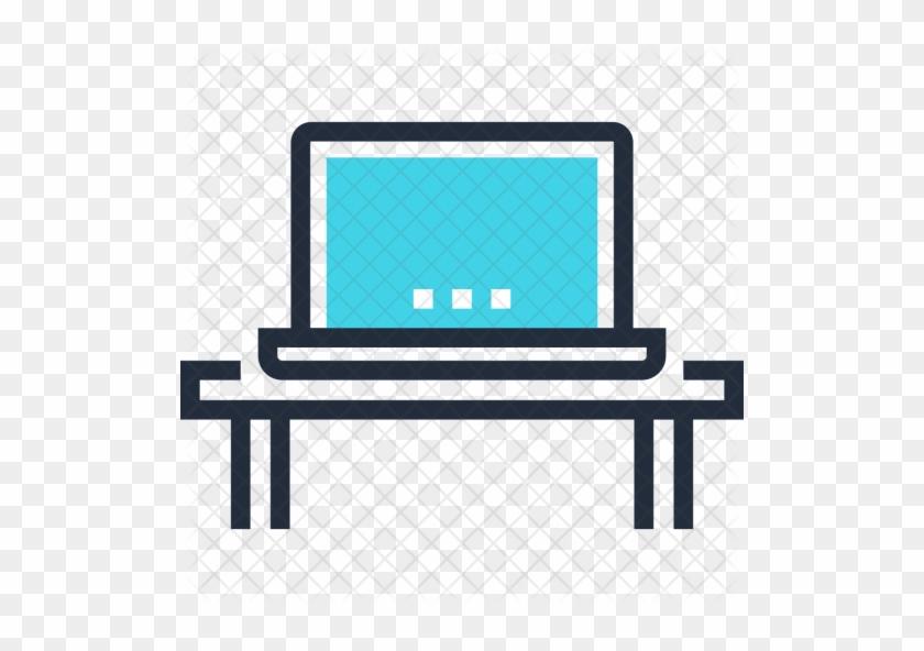 Computer Icon - Laptop Table Icon #505497