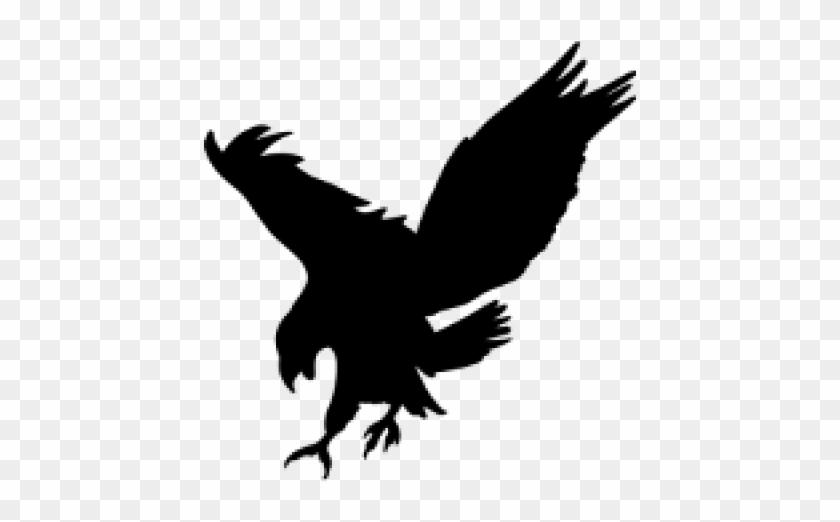 Black Eagle Clipart Picsart Eagle Silhouette Transparent