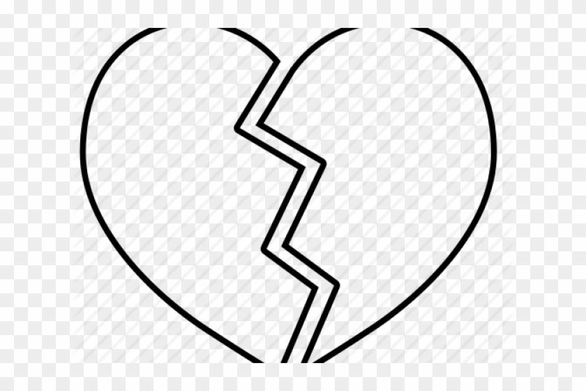 Drawn Broken Heart Line Broken Heart Svg Free Free Transparent