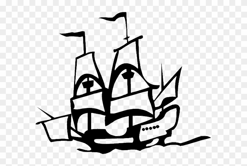 Columbus Ship In Graphic On Columbus Day Coloring Page