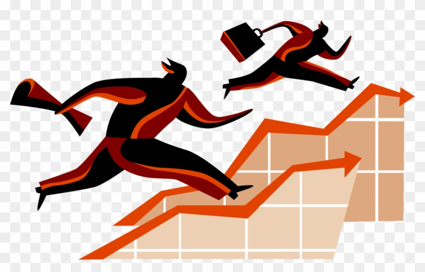 Vector Illustration Of Business Competitors In Running - Graphic Design #506407