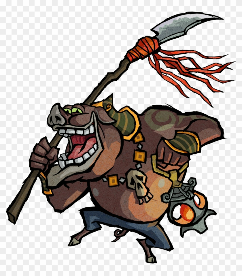 Moblin Artwork - Zelda Wind Waker Enemies #506456