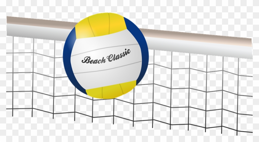 Volley Ball Clipart 26, Buy Clip Art - Volleyball Ball And Net #507059