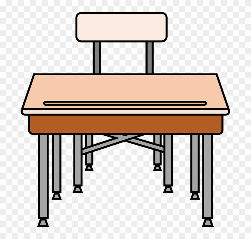 School Table Cliparts - Pencil On Desk Clipart #507743