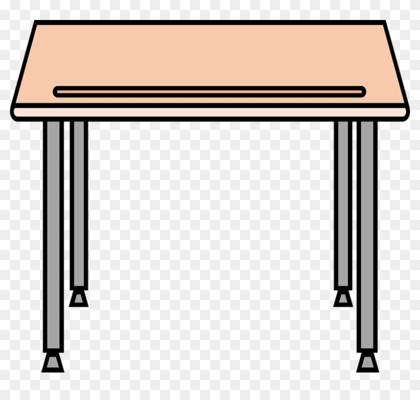 School Table Cliparts - Drawing Of A Student Desk #507799