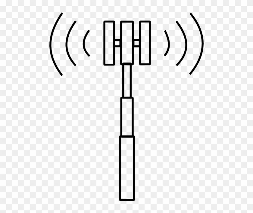 Tower Clipart Cell Site - Cell Phone Tower Icon #508175