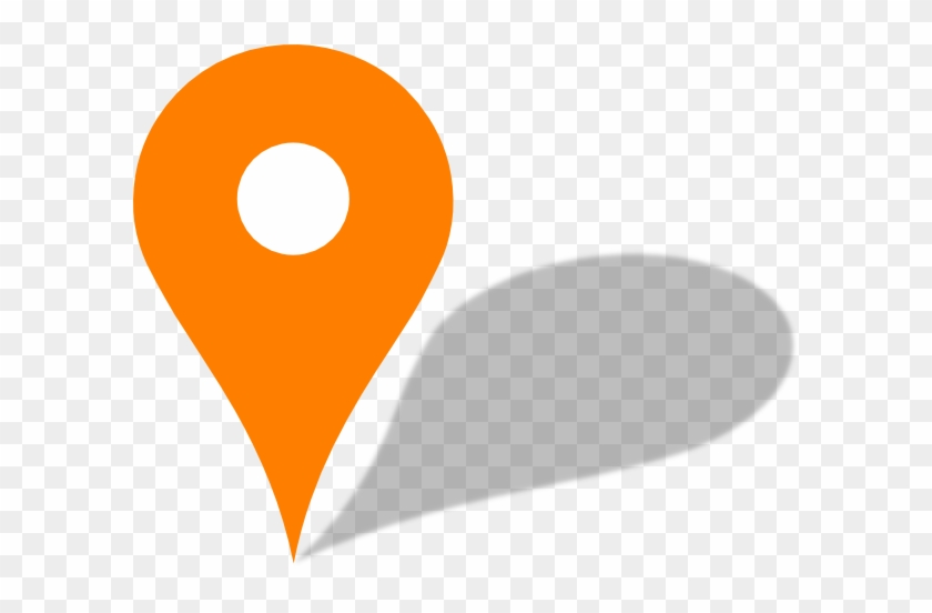 Orange Pin - Google Map Pin Orange #509064