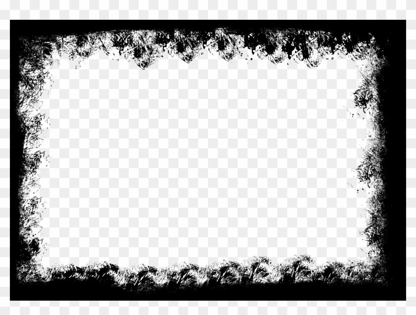 Funky Frames Png Ornament Black Grunge Border Png Free