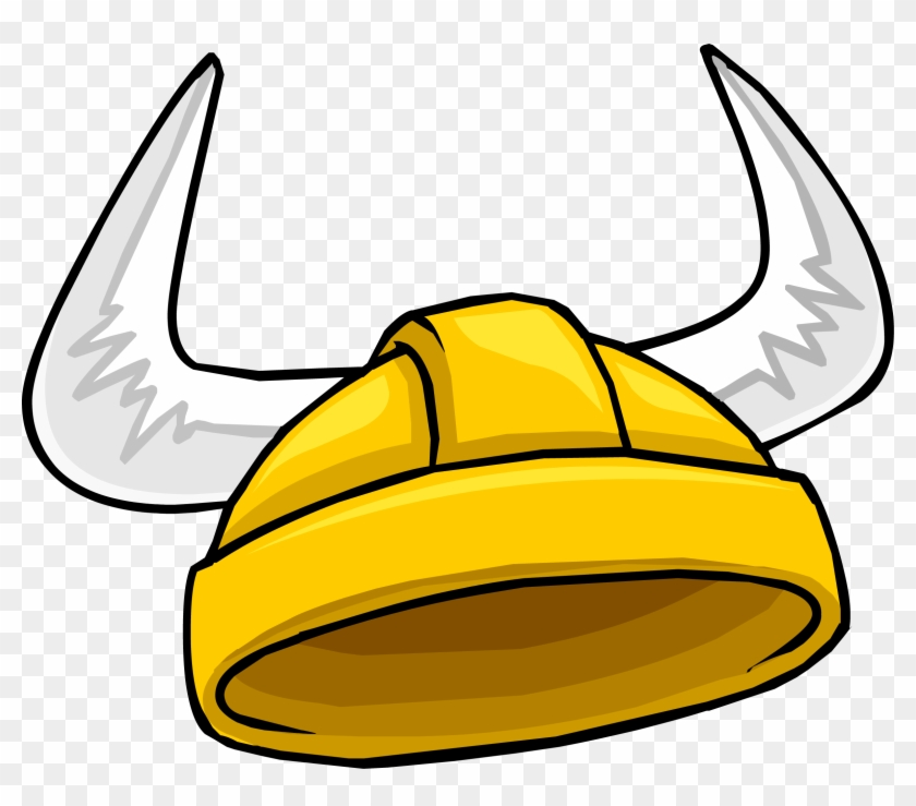 Gold Viking Helmet - Viking Helmet Club Penguin #509087