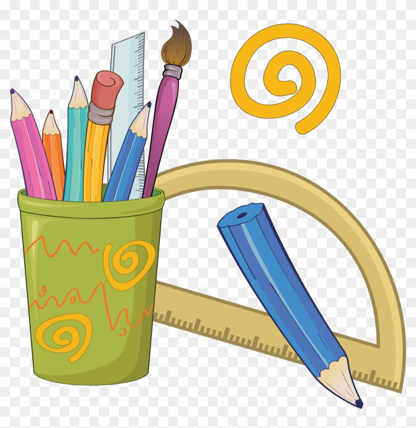 Colored Pencil Drawing Stationery Clip Art - Pencil And Crayons Clip Art #509092