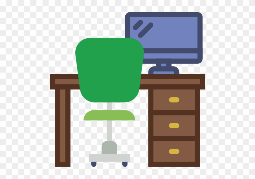 Office, Table, Studio, Chair, Desk, Furniture, Furniture - Office Desk Icon Png #509146