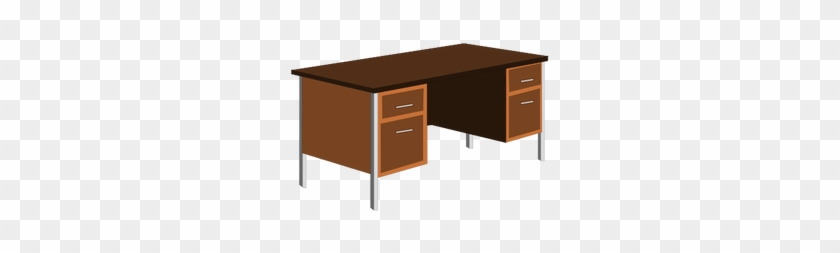 Office Desk Vector Clip Art Public Domain Vectors - Clip Art Office Desk Png #509234