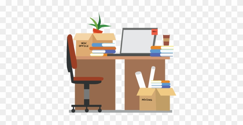 Organized Office Desk Clipart - Shifting To New Office #509243