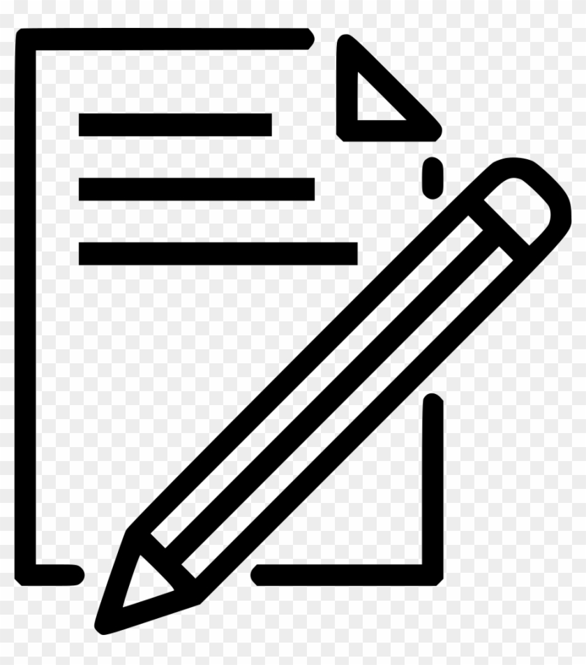 document paper write pencil pen drawing svg png icon - pencil and