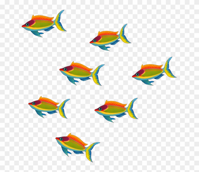 Six Fish Cliparts - Six Fish Clipart #509617