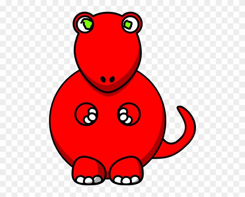 Cartoon Tyrannosaurus Rex Dinosaur Shower Curtain #509845