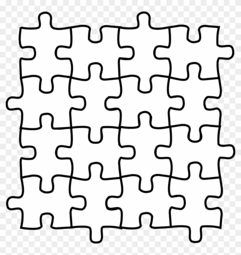 Puzzle Pieces Coloring Pages