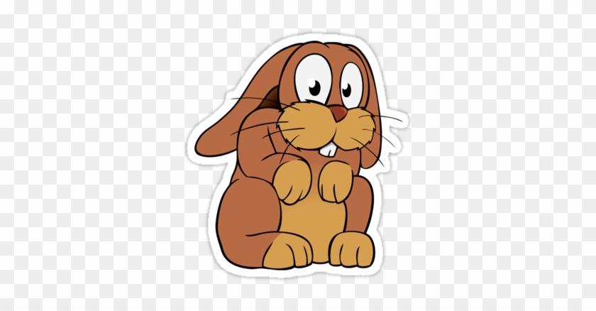 Cute Cartoon Rabbit With Big Eyes P Sticker - Cute Cartoon Bunny With Big Eyes #511972