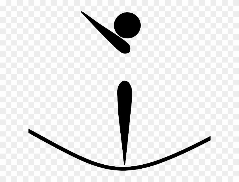 Gymnast Symbol Sport Cartoon Symbols Gym Sports Trampoline