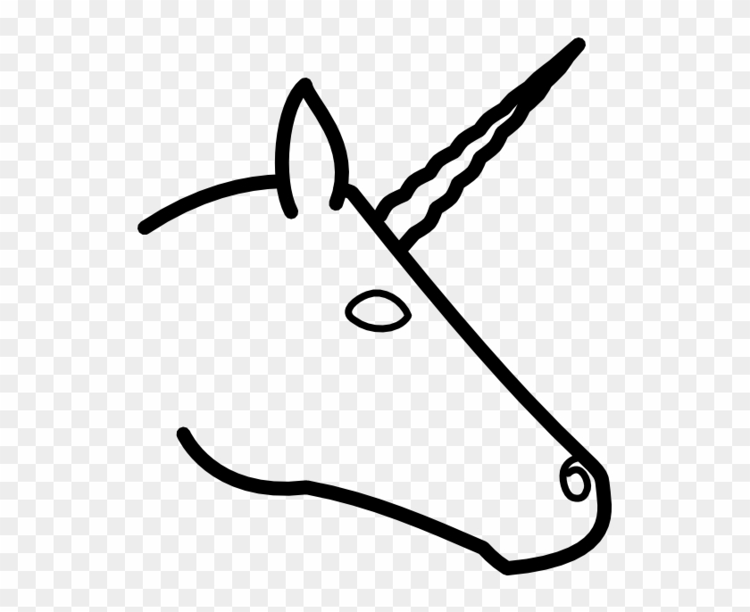Unicycle - Clipart - Black - And - White - Draw A Unicorn Head Easy #514782