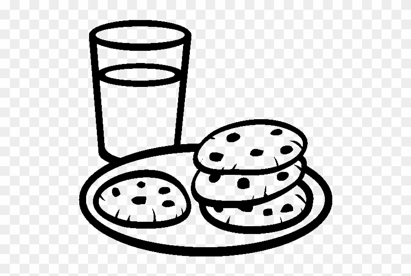 Plate Of Cookies Clipart - Milk And Cookies Coloring Pages ...