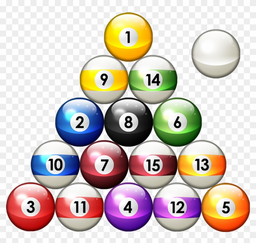 Billiard Ball Clipart Snooker Pencil And In Color - Rack Of Pool Balls #514922