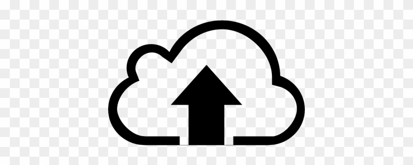 Upload To Internet Cloud Symbol Vector - Icon Upload To Cloud #514962