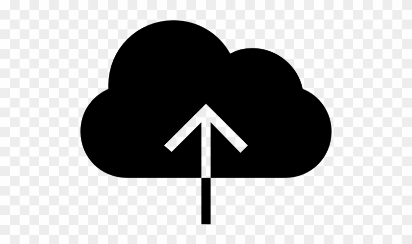 Cloud, Upload, Black, Symbol Icon - Icones Download Png #515147