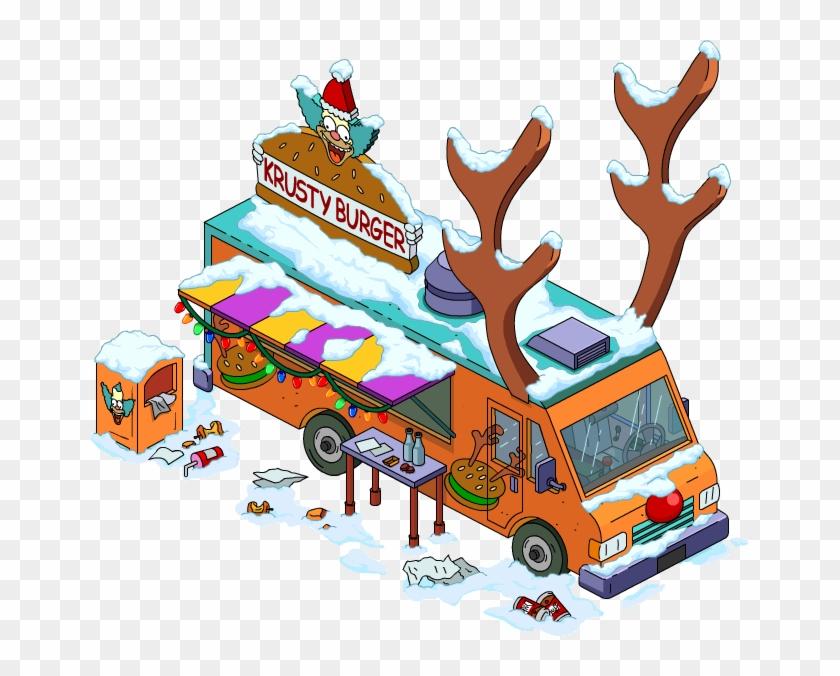 Reindeer Burger Truck - Krusty The Clown #515185
