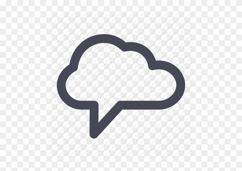 Free Multimedia Icons - Cloud Chat Png #515212
