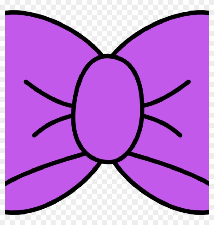 Bow Clipart Purple Bow Clip Art At Clker Vector Clip - Hair Bow Svg File #515519