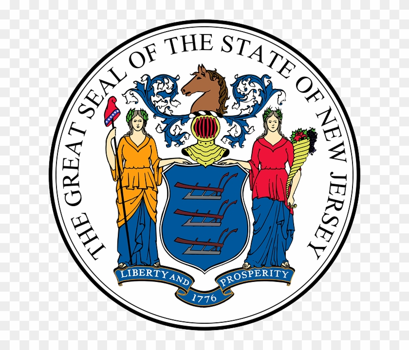 The Seal Of The State Of New Jersey - New Jersey State Flag #516293