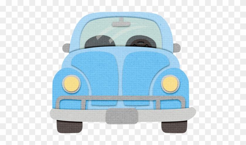 Blue Car - Cute Stiched Beetle Car Png Clipart #516768