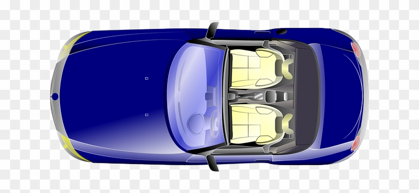 Top, View, Car, Cartoon, Bus, From, Truck, Bmw, - Car From Top Png Transparent #516769