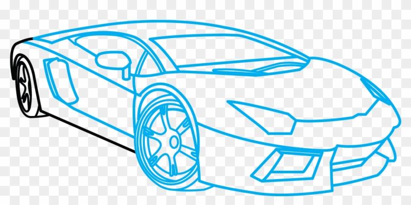 How To Draw Lamborghini Aventador A Car Easy Step Lamborghini