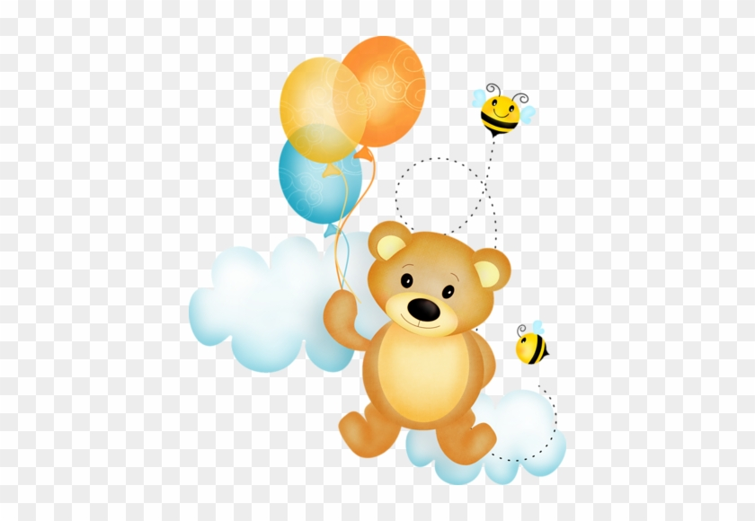 Bee Happy - Clipart Baby Bear With Balloon #516876