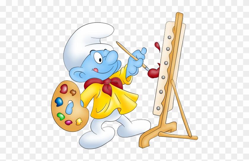 Baby Smurf Painting Desenhos Infantis Png Free Transparent Png