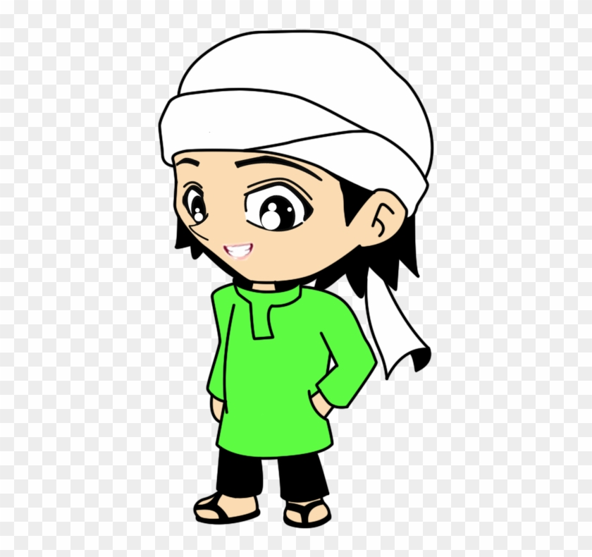 Doodle Muslim Berserban Berbaju Hijau Arghh So Handsome Orang