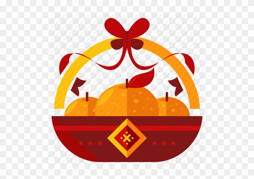Related Chinese New Year Orange Clipart - Chinese New Year Icon Png #516943