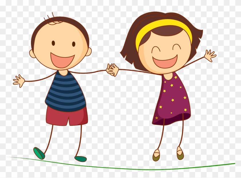 Kartun Anak Laki Laki Dan Perempuan Kartunlucu Kolam Anak Laki Laki Dan Perempuan Free Transparent Png Clipart Images Download