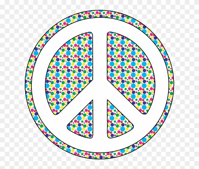 2e7158e0a Scalable Vector Graphics Svg Polka Dot Peace Symbol - Peace Signs And Polka  Dots