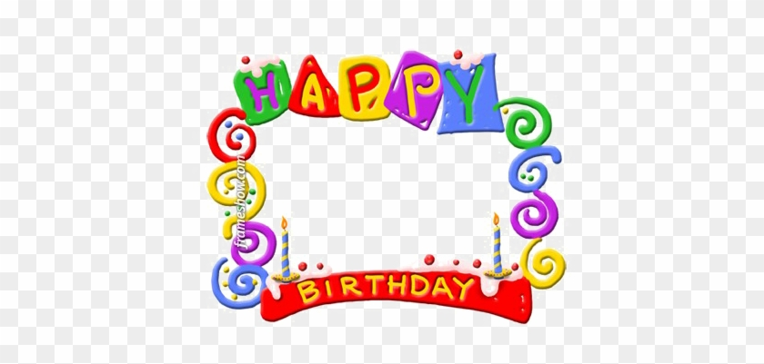 Colorful Happy Birthday Png Background Image - Happy Birthday Card Frame #517652