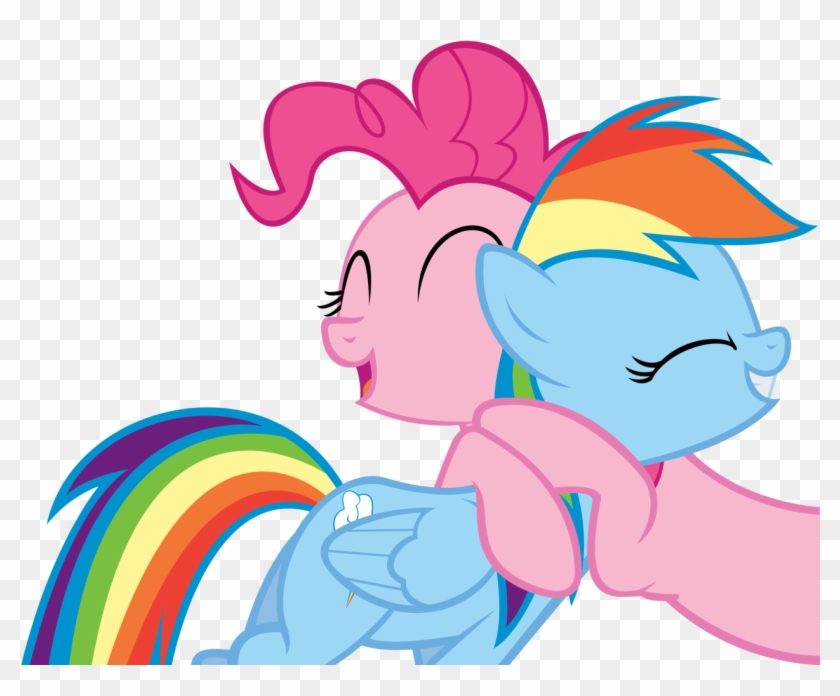 Oh Pinkie - Pinkie Pie And Rainbow Dash Hugging #517810