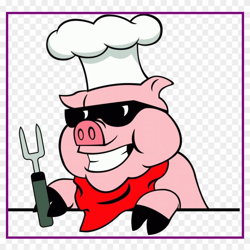 Shocking Pigs Cartoon Clip Art On Pics For Piggy And - Pig Roast Embroidery Design #518478