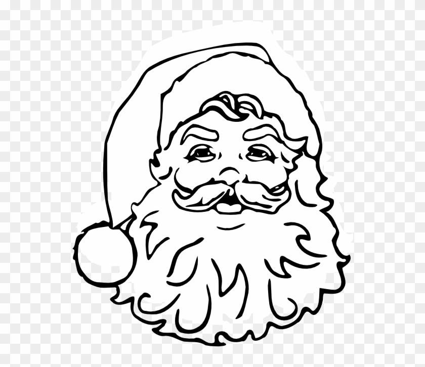 classic santa black white christmas xmas 111px santa claus adult coloring book